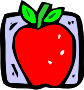 Food and drink icon - apple