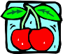 Food and drink icon - cherries