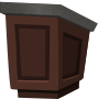 Podium - wood with granite top - from Glitch