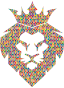 Prismatic Hexagonal Mosaic Lion King