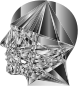 Grayscale Geometric Man Head
