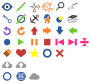 Minimally Colored Symbols