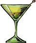 Dirty martini cocktail Thumbnail
