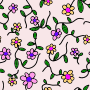 Flowery pattern 3 (colour 2)