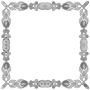 Grayscale Abstract Frame
