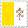 Vatican City flag stamp Thumbnail