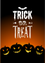 Trick or Treat with Jack-o-lanterns Card