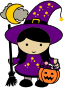 Cute Halloween Witch - Colored Thumbnail