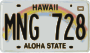 Hawaiian License Plate Thumbnail