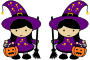 Twin Halloween Witches