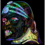Maasai Man Line Art Prismatic 2 Thumbnail