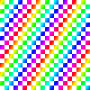 Squares rendered with rainbow colors Thumbnail