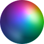 Sphere with a spectrum radial gradient Thumbnail