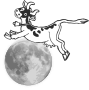 The cow jumps over the moon