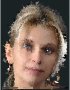 High Poly Blonde Woman Portrait Wireframe