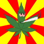 Animation:Marijuana leaf's tripping experience.