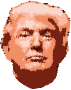 Low Poly Trump Head Wireframe No Background