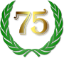 Laurel wreath with golden 75 Thumbnail