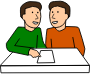 Students partner work - Two males />