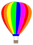 Hot Air Balloon with saturated colors