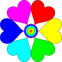 Spectral Color heart flower