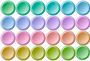 24 colorful buttons inverse gradient Thumbnail