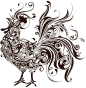Abstract Rooster Silhouette Thumbnail