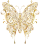 Abstract Butterfly II Gold