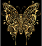 Abstract Butterfly II Gold With Background