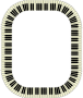 Piano keys frame (rectangle, inverted)