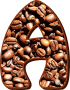 Coffee beans typography A
