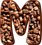Coffee beans typography M
