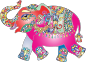 Prismatic Playful Elephant