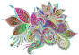 Prismatic Ornamental Floral Line Art No Background Thumbnail