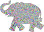 Prismatic Low Poly Playful Elephant
