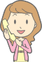 Woman using Telephone (#3) Thumbnail