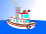 Animated Cartoon Tugboat Thumbnail