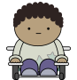 Comic character - wheelchair user Thumbnail
