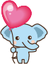 Elephant with balloon Thumbnail