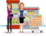 Two Women At The Supermarket Thumbnail