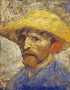 Van Gogh Self-portrait with Straw Hat Thumbnail
