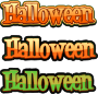 Halloween Text - additional versions