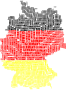 Germany Map Typography Flag Colors