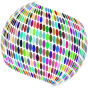 Stylized Circles Sphere Prismatic