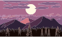 Parallax Mountain At Dusk Pixel Art Thumbnail