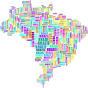 Brazil Map Typography Thumbnail