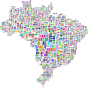 Brazil Map Typography Prismatic Thumbnail