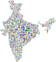 India Map Typography Prismatic Thumbnail