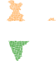 India Map Typography Flag Colors Thumbnail