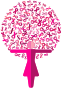 Woman Pink Ribbons Tree